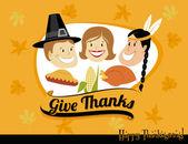 Thanksgiving Greeting card — Vecteur