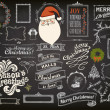Stock Vector: Christmas Design Elements on Chalkboard