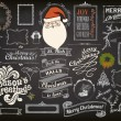 Christmas Design Elements on Chalkboard — Stock Vector #33281715