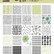 Set of Seamless Doodle Patterns — Stok Vektör