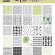 Set of Seamless Doodle Patterns — Stock Vector