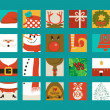 Christmas Icon Squares — Stock Vector