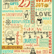 Typography Christmas poster and greeting card — Vector de stock
