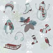 Arte de clipe de inverno — Vetor de Stock