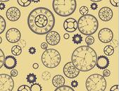 Vintage klokken patroon — Stockvector