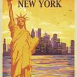 Travel to New York Poster — Stock Vector #40557753