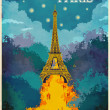 Travel to Paris Poster — Stock Vector