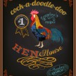 Chalkboard Poster for Chicken Restaurant — Stock Vector