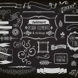 Chalkboard Design Elements and Etchings — Stock Vector