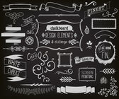 Chalkboard Design Elements and Etchings — Vector de stock