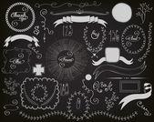 Chalkboard Design Elements — Stock Vector