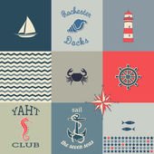 Nautical Icons Poster — Stock Vector