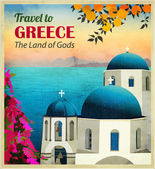 Travel to Greece Poster — Stock Vector