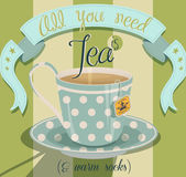 All You Need is Tea Poster — Stock Vector