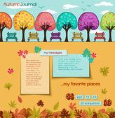 Autumn Journal — Stock Vector
