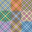 color plaid patterns set — Stock Vector #18318233
