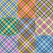 Color plaid patterns set — Stock Vector
