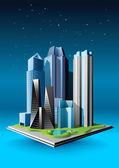 Gruppo di edifici — Vettoriale Stock