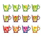 Teacups — Stock Vector