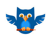 Blue Owl — Stock Vector