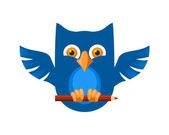 Blue Owl — Stock Vector