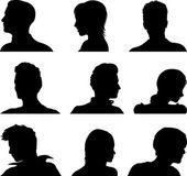 Anonymous avatar set — Stock Vector
