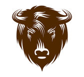 Buffalo Head — Stock Vector