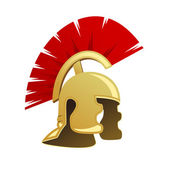 Ancient Warrior Helmet — Stock Vector