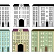 Stock Vector: City buildings