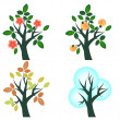 Trees set - Stock Vector