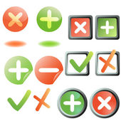 Add remove buttons collection — Stock Vector