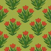 Červené květy — Stock vektor