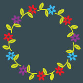 Floral wreath — Stockvektor