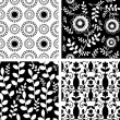 Black and white collection set — Stock Vector