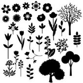 Plants collection — Stock Vector