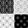 Patterns collection - Stock vektor