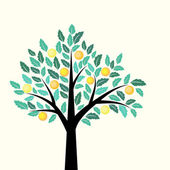 Decorative tree — Vector de stock