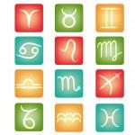 botões do Zodíaco — Vetorial Stock