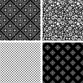 Patterns set — Stock Vector