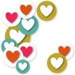 Hearts card — Stock Vector