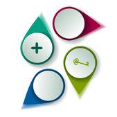 Conjunto de botões — Vetorial Stock