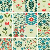 Patterns set — Stock Vector