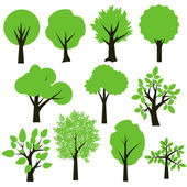 Trees set — Stock Vector