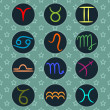 Zodiac signs — Vector de stock