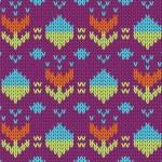 Knit pattern — Stock Vector #32630959