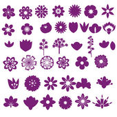 Flower set — Vector de stock