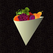 Fruits illustration — Stockvector