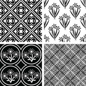 Seamless patterns — Stockvektor