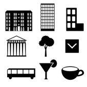 Staden ikoner — Stockvektor