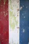 Red White and Blue Peeling Paint — Stock Photo